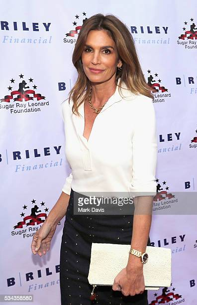 Cindy Crawford attends B Riley Co and Sugar Ray Leonard Foundation's 7th Annual Big Fighters Big Cause Charity Boxing Night at Dolby Theatre on May...