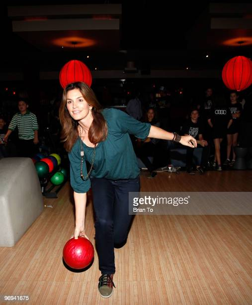Cindy Crawford attends Best Buddies International's Bowling for Buddies benefit at Lucky Strike Lanes at LA Live on February 21 2010 in Los Angeles...