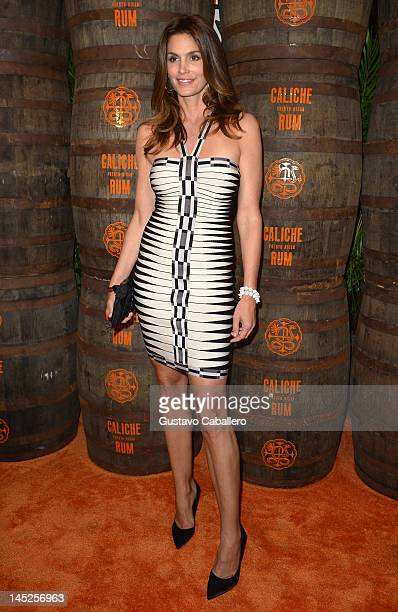 Cindy Crawford attends Caliche Rum event on May 24 2012 in Miami Beach Florida