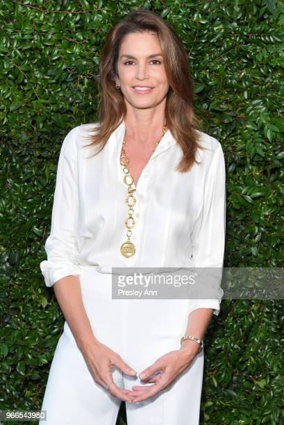 Cindy Crawford attends CHANEL Dinner Celebrating Our Majestic Oceans, A Benefit For NRDC on June 2, 2018 in Malibu, California.