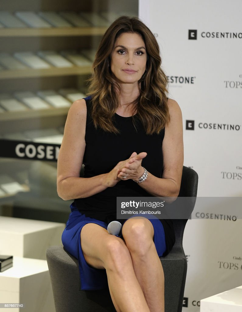 cindy crawford talking top design photos and images | getty images