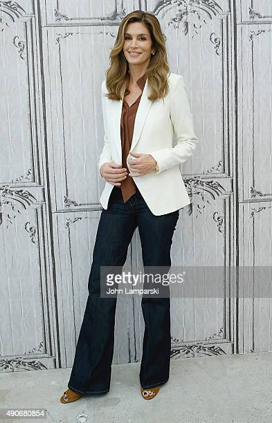 Cindy Crawford attends Cindy Crawford's 'Becoming' during AOL Build speaker series at AOL Studios In New York on September 30 2015 in New York City
