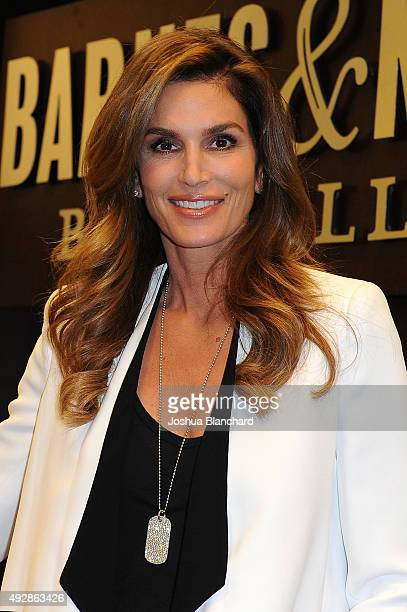 Cindy Crawford attends her book signing for 'Becoming Cindy Crawford' at Barnes Noble at The Grove on October 15 2015 in Los Angeles California