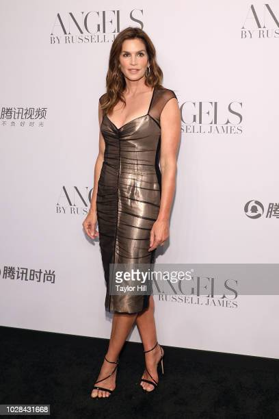 Cindy Crawford attends Russell James' launch of his photobook and exhibition 'Angels' at Stephan Weiss Studio on September 6 2018 in New York City