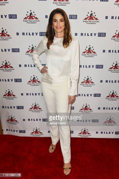 Cindy Crawford attends Sugar Ray Leonard Foundation's 10th Annual 'Big Fighters Big Cause' Charity Boxing Night Presented by B Riley FBR at The...