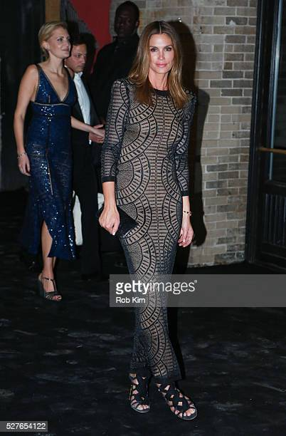 Cindy Crawford attends the afterparty for Manus x Machina Fashion In An Age Of Technology Costume Institute Gala at The Gilded Lily on May 2 2016 in...