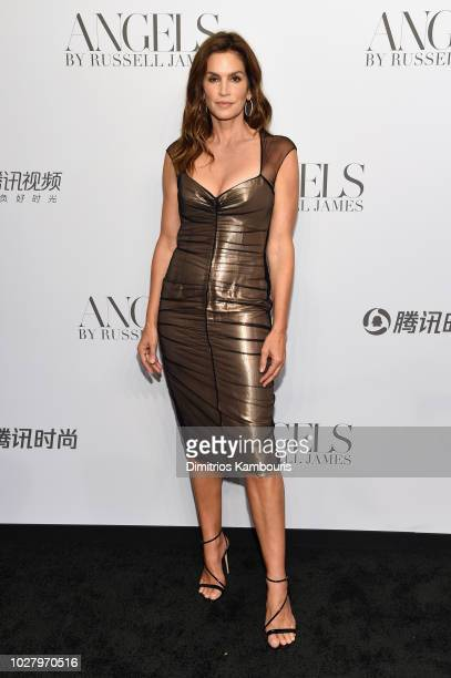 Cindy Crawford attends the ANGELS by Russell James book launch and exhibit hosted by Cindy Crawford and Candice Swanepoel at Stephan Weiss Studio on...