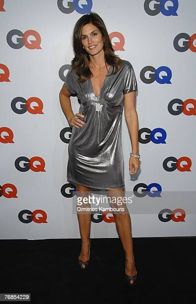 Cindy Crawford attends the GQ Magazine 50th Anniversary Party at Cedar Lake on September 18 2007 in New York City