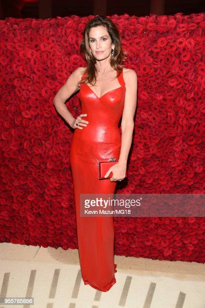 Cindy Crawford attends the Heavenly Bodies Fashion The Catholic Imagination Costume Institute Gala at The Metropolitan Museum of Art on May 7 2018 in...