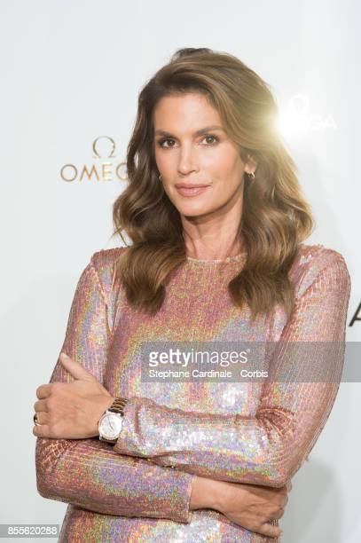 Cindy Crawford attends the 'Her Time' Omega Photocall as part of the Paris Fashion Week Womenswear Spring/Summer 2018 at on September 29 2017 in...