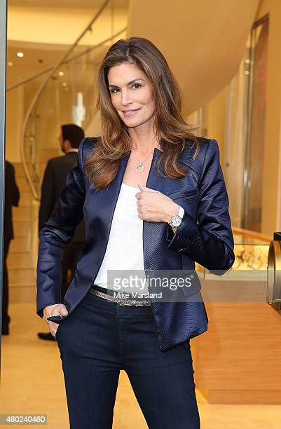 Cindy Crawford attends the Omega Oxford Street Store Opening on December 10 2014 in London England