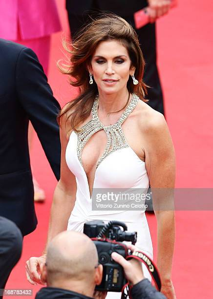 Cindy Crawford attends the Opening Ceremony and 'The Great Gatsby' Premiere during the 66th Annual Cannes Film Festival at the Theatre Lumiere on May...