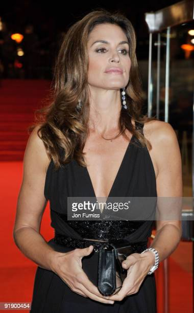 Cindy Crawford attends the Opening Gala for The Times BFI London Film Festival which Premiere's 'Fantastic Mr Fox' at the Odeon Leicester Square on...