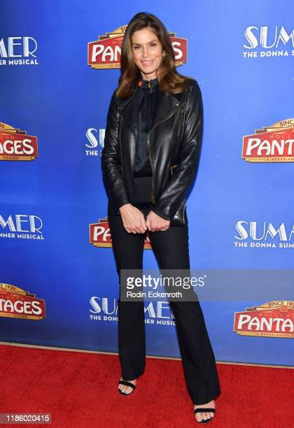 """Cindy Crawford attends the premiere of """"Summer: The Donna Summer Musical"""" At Hollywood Pantages Theatre at the Pantages Theatre on November 06, 2019..."""