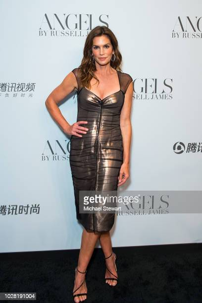 Cindy Crawford attends the Russell James 'Angels' book launch exhibit at Stephan Weiss Studio on September 6 2018 in New York City