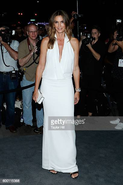 Cindy Crawford attends the Tom Ford Fall 2016 fashion show at The Four Seasons on September 7 2016 in New York City