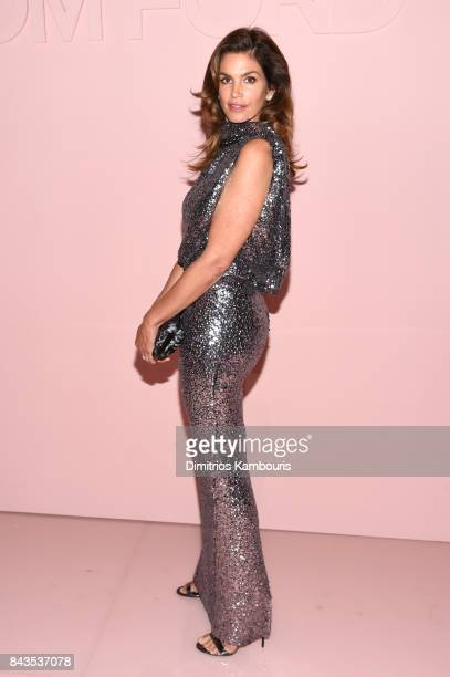 Cindy Crawford attends the Tom Ford Spring/Summer 2018 Runway Show at Park Avenue Armory on September 6 2017 in New York City