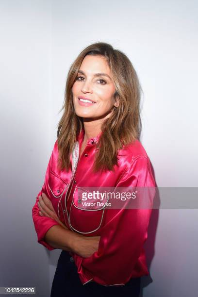 Cindy Crawford during an exhibition hosted by Acne Studios featuring Cindy Crawford Sam Abell and Amarrillo on at Galerie Edouard Escougnou on...