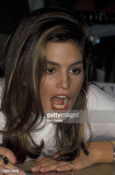 Cindy Crawford during Cindy Crawford Announces Her Association with JH Collectible Sportswear in New York City New York United States
