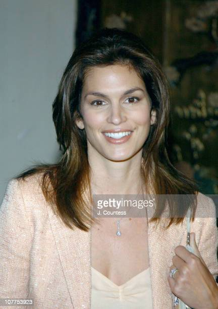 """Cindy Crawford during Cindy Crawford Honored as City of Hope's """"Woman of The Year"""" at the 2004 Spirit of Life Luncheon at Waldorf-Astoria Hotel in..."""