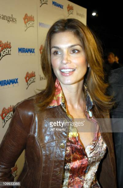 Cindy Crawford during Confessions of a Dangerous Mind Premiere at Mann Bruin Theatre in Westwood, California, United States.