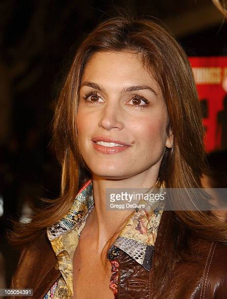 "Cindy Crawford during Los Angeles Premiere Of ""Confessions Of A Dangerous Mind"" at Mann Bruin Theatre in Westwood, California, United States."