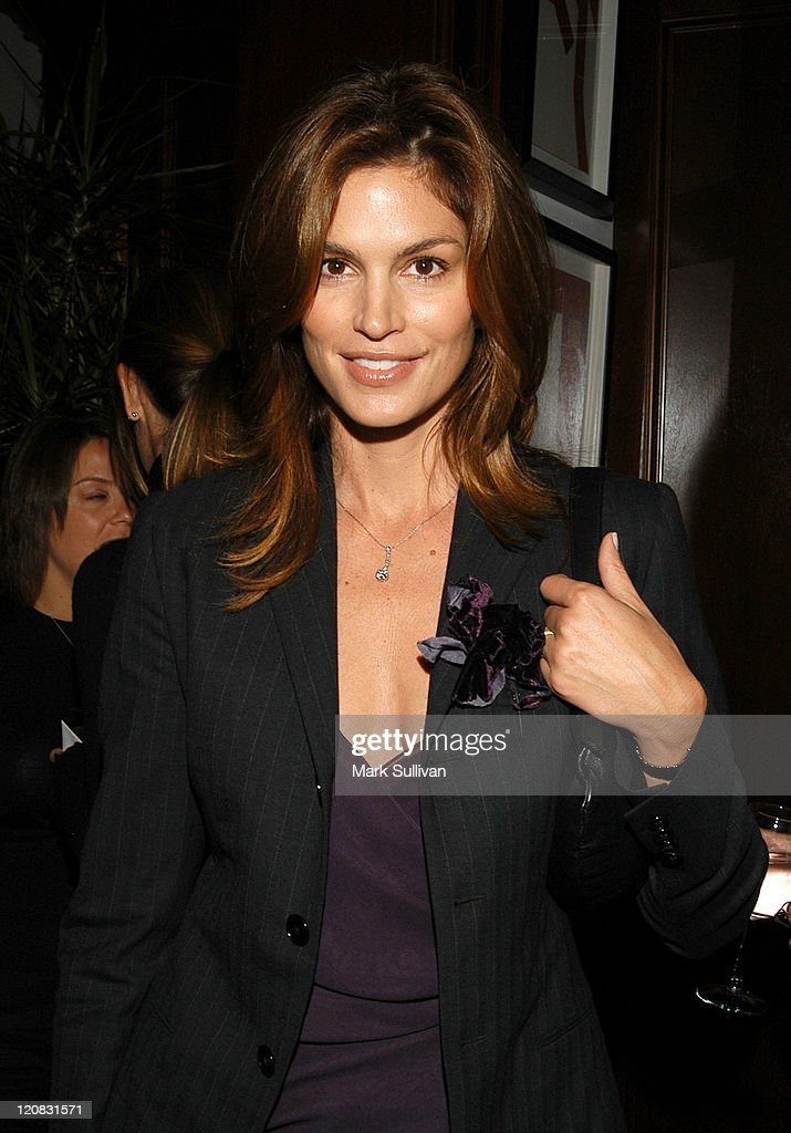 Cindy Crawford During Luncheon At Ralph Lauren Rodeo Drive Store In