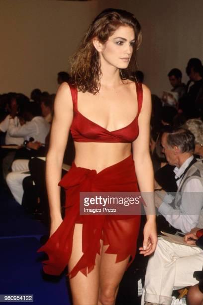 Cindy Crawford during New York Fashion Week 1991 in New York.