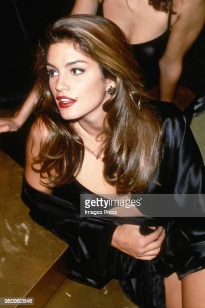 Cindy Crawford during New York Fashion Week 1992 in New York.