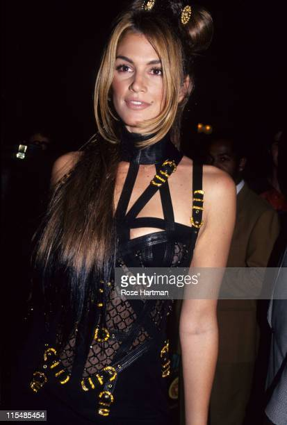 Cindy Crawford during Versace Hosts Rock N' Rule Benefit for AmFAR at Park Avenue Armory in New York City New York United States