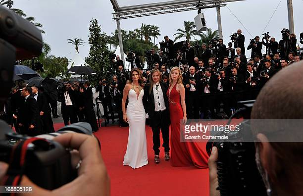 Cindy Crawford Eva Cavalli and Georgia May Jagger attend the Opening Ceremony and 'The Great Gatsby' Premiere during the 66th Annual Cannes Film...