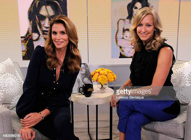 AMERICA Cindy Crawford is a guest on Good Morning America 9/29/15 airing on the Walt Disney Television via Getty Images Television Network