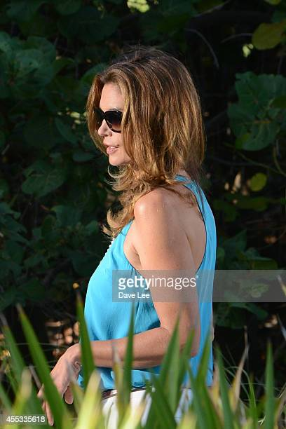 Cindy Crawford is seen filming a commercial on September 12 2014 in Miami Florida