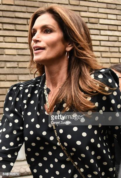 Cindy Crawford is seen outside the Marc Jacobs show during New York Fashion Week Women's S/S 2018 on September 13 2017 in New York City