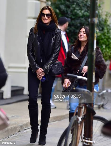 Cindy Crawford is seen Shopping in Soho on February 15 2018 in New York City
