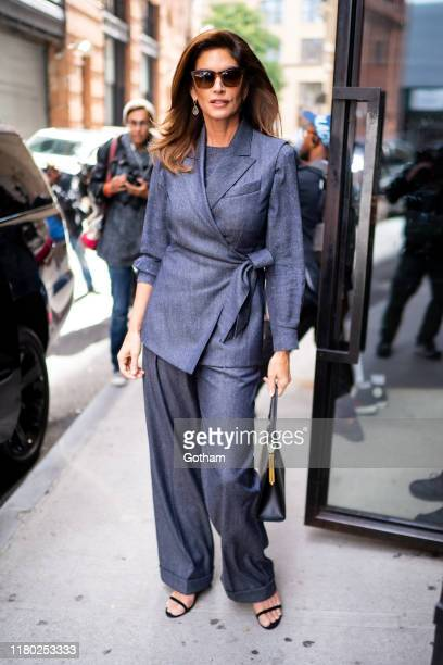 Cindy Crawford is Tribeca in SoHo on October 10 2019 in New York City