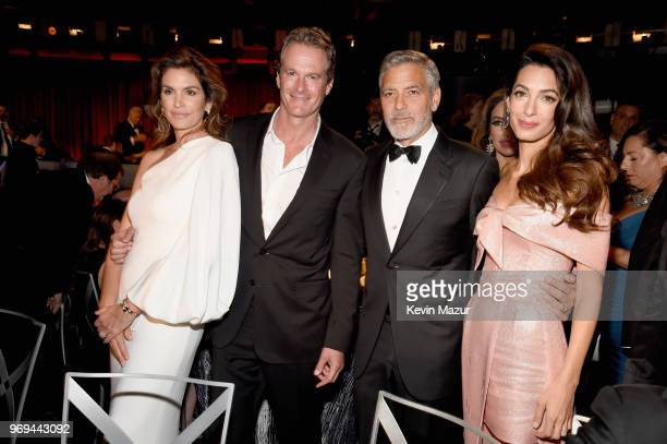 Cindy Crawford Rande Gerber, 46th AFI Life Achievement Award Recipient George Clooney and Amal Clooney attend the American Film Institute's 46th Life...