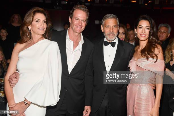 Cindy Crawford, Rande Gerber, 46th AFI Life Achievement Award Recipient George Clooney, and Amal Clooney attend the American Film Institute's 46th...