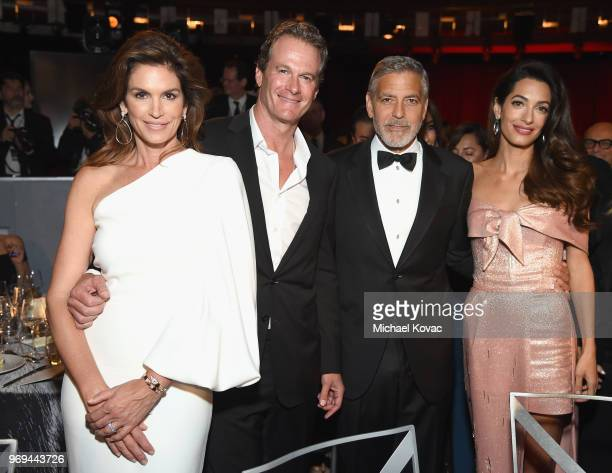 Cindy Crawford, Randy Gerber, George Clooney and Amal Clooney attend the American Film Institute's 46th Life Achievement Award Gala Tribute to George...