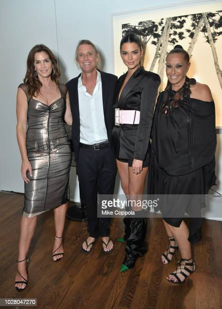 Cindy Crawford Russell James Kendall Jenner and Donna Karan attend the ANGELS by Russell James book launch and exhibit hosted by Cindy Crawford and...