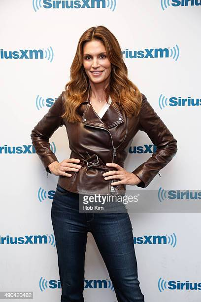 Cindy Crawford visits at SiriusXM Studios on September 28 2015 in New York City