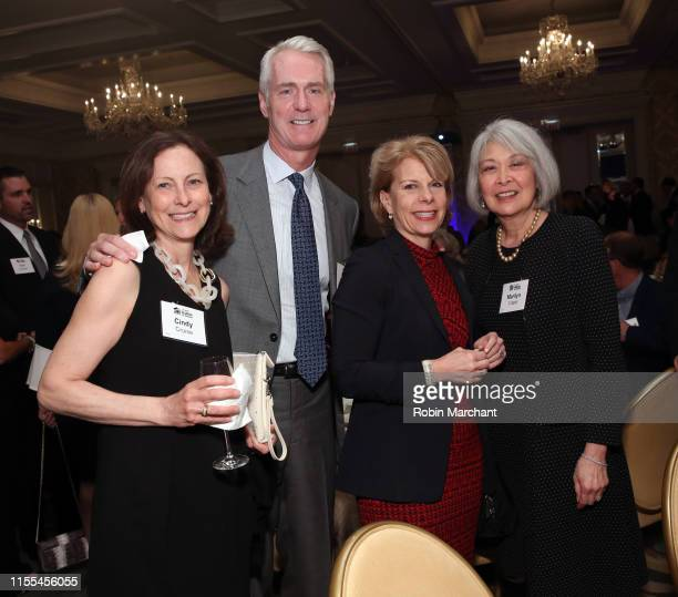 Cindy Cruise and Steve Cruise Event CoChair and Managing Director Greenhill Co LLC with guests Carol Rubin and Marilyn Vitale at Habitat Hero Award...