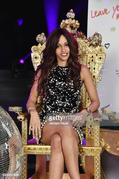 Cindy Descalzi Pereira attends the Dolce Gabbana 'Dancing Queen' After Show Party during Milan Fashion Week Fall/Winter 2017/18 on February 26 2017...