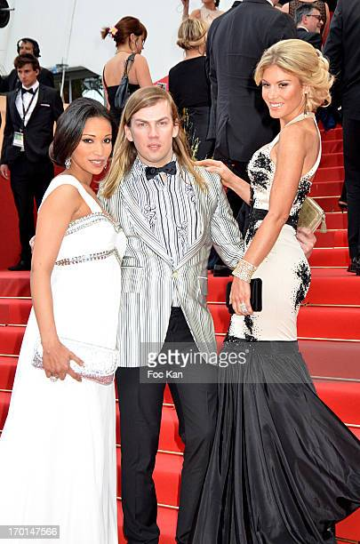 Cindy Fabre Christophe Guillarme and Hofit Golan attend the Premiere of 'Inside Llewyn Davis' during the 66th Annual Cannes Film Festival at Palais...