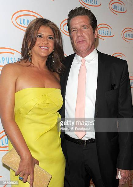 Cindy Frey and singer Glenn Frey arrive at the 10th Annual Lupus LA Orange Ball on May 6 2010 in Beverly Hills California