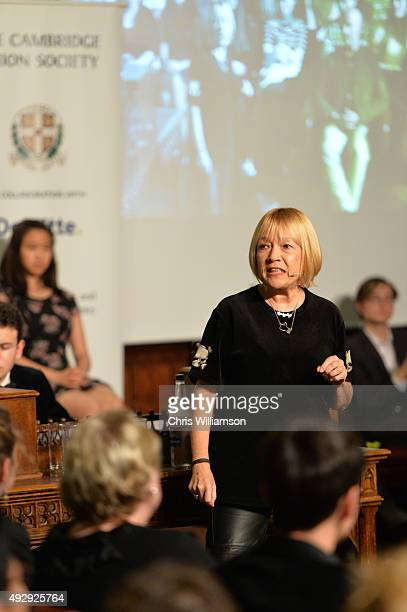 Cindy Gallop during a debate at The Cambridge Union on October 15 2015 in Cambridge United Kingdom The Cambridge Union were dabting 'This House...