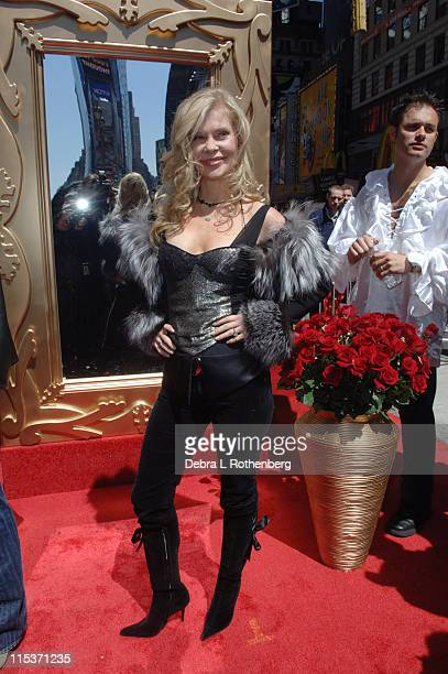 Cindy Guyer during Fabio Rides a Horse Into Times Square to Promote the Oxygen Network's Mr Romance at Times Square in New York City New York United...