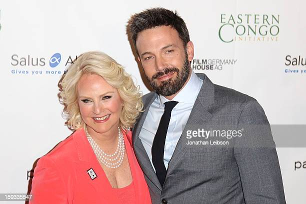 Cindy Hensley McCain and Ben Affleck attend the Cinema For Peace Foundation's 2013 Gala For Humanity at Beverly Hills Hotel on January 11 2013 in...