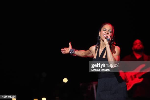 Cindy Herron of En Vogue perform at Chene Park on August 31 2014 in Detroit Michigan
