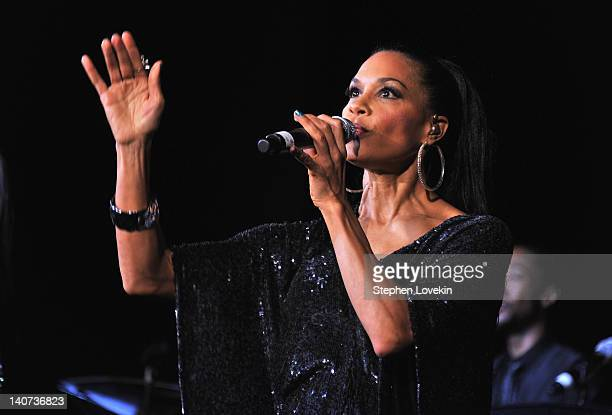 Cindy Herron of En Vogue performs at the Jackie Robinson Foundation Awards Gala at The Waldorf=Astoria on March 5 2012 in New York City